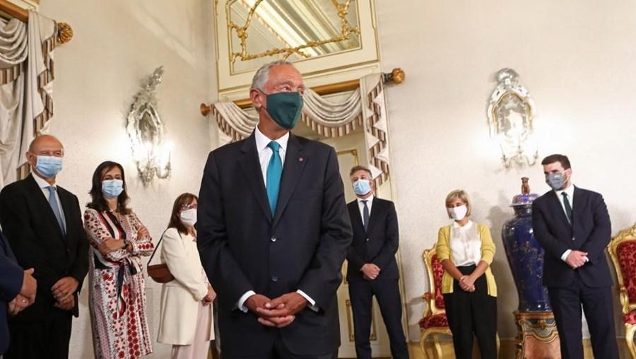 Presidente da República, Marcelo Rebelo de Sousa, durante a cerimónia de tomada de posse dos novos secretários de Estado do XXII Governo