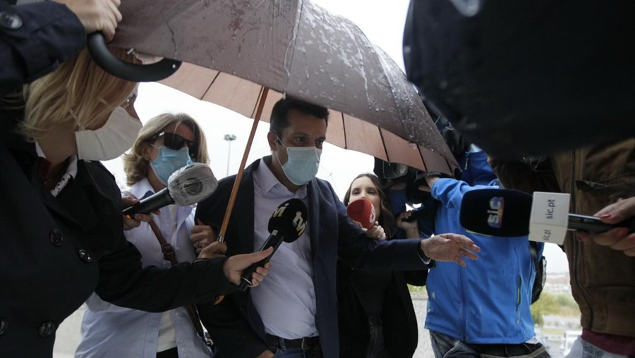 António Joaquim à chegada ao Tribunal de Loures