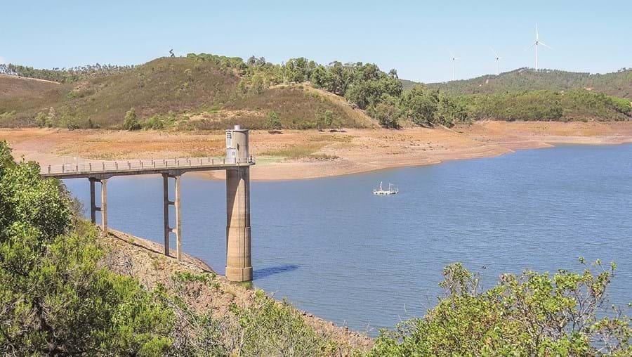 Barragem da Bravura registava, no início de setembro, um volume total de água armazenada de apenas 18,3%