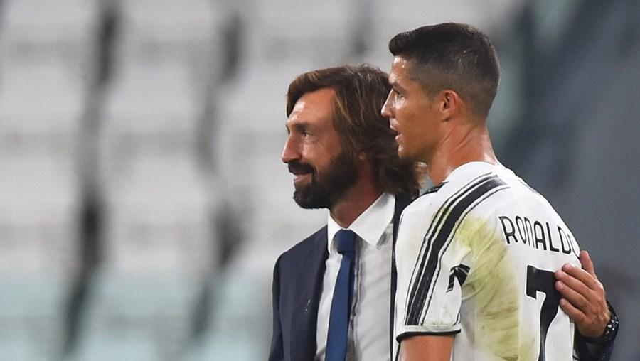 Pirlo fez alterações na equipa da Juventus e colocou Ronaldo a ponta de lança