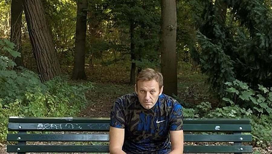 Navalny publicou uma fotografia no Instagram