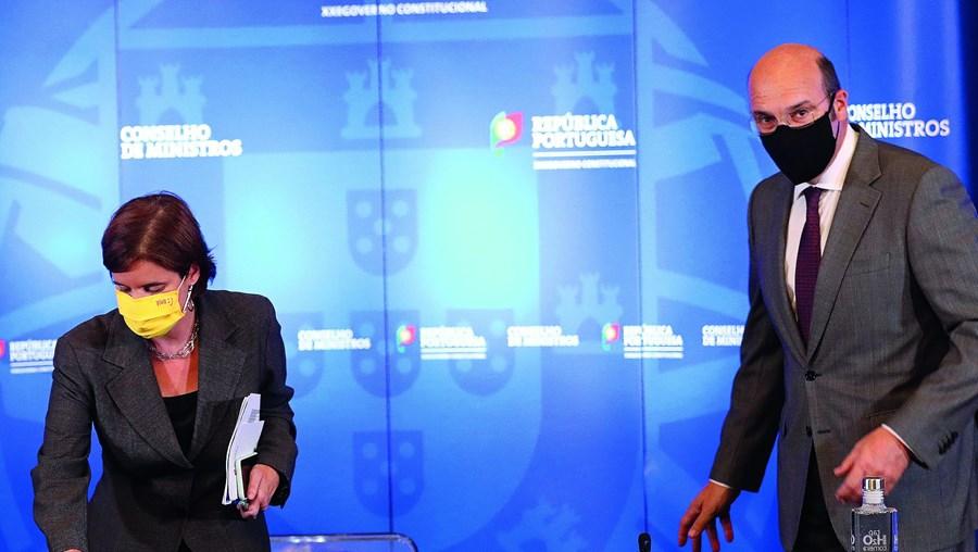 Ministra da Presidência, Mariana Vieira da Silva, e o ministro da Economia, Pedro Siza Vieira