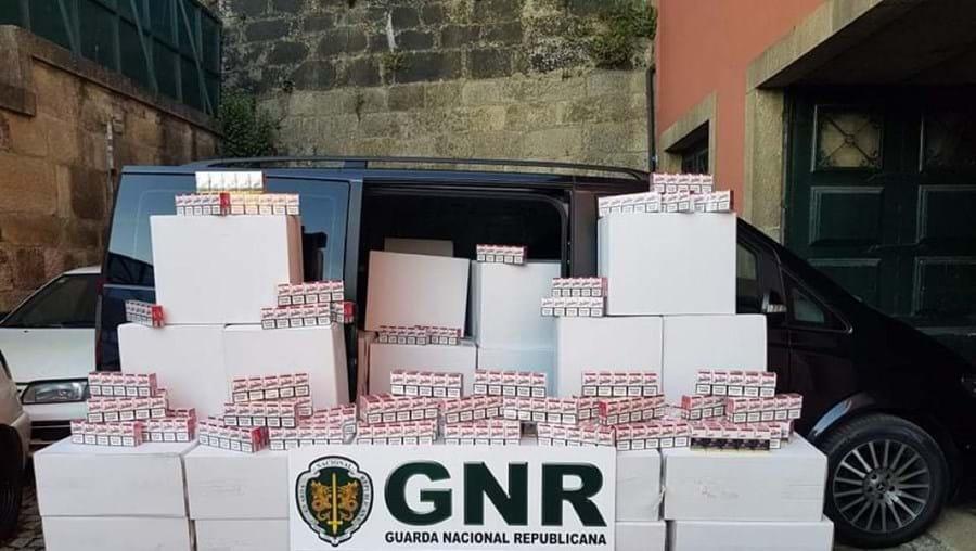 Cigarros apreendidos pela GNR