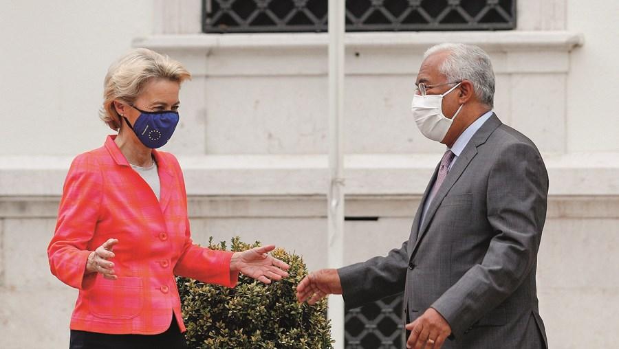 Ursula von der Leyen com António Costa