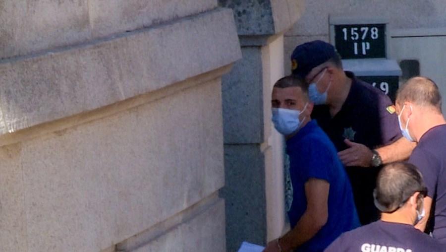 André Almeida esta terça-feira no Tribunal de Castelo Branco, onde garantiu ao coletivo de juízes que não tinha intenção de matar