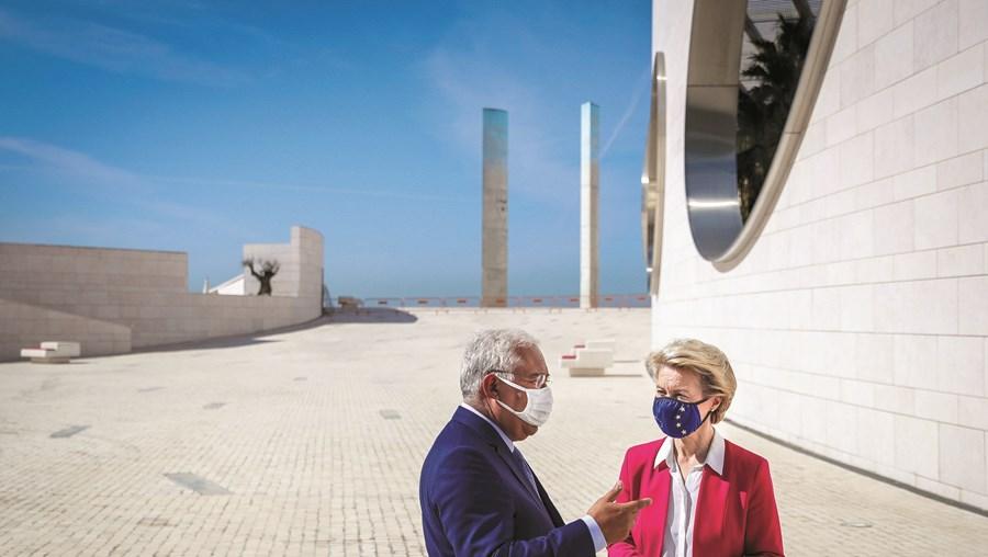 António Costa com Ursula von der Leyen, presidente da Comissão Europeia