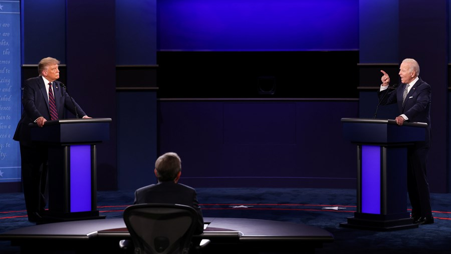 Debate presidencial entre Trump e Biden