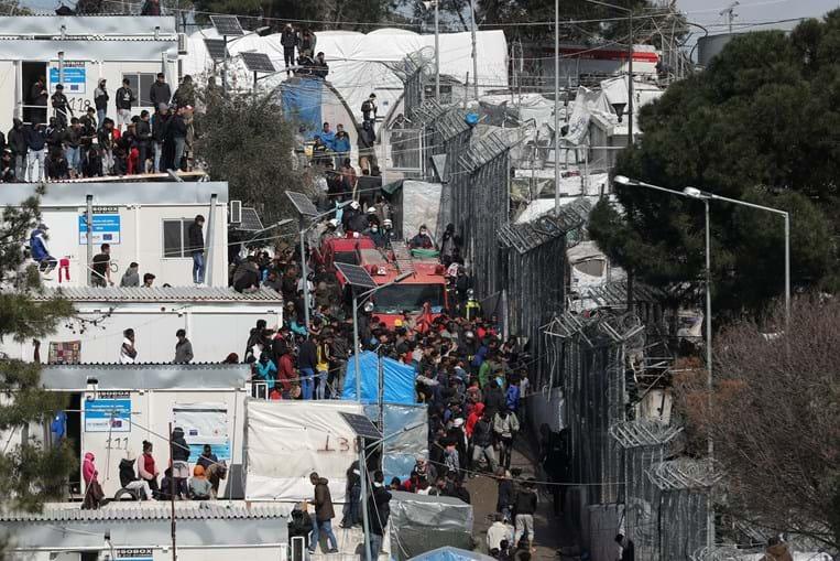 Campo de refugiados de Moria, na Grécia