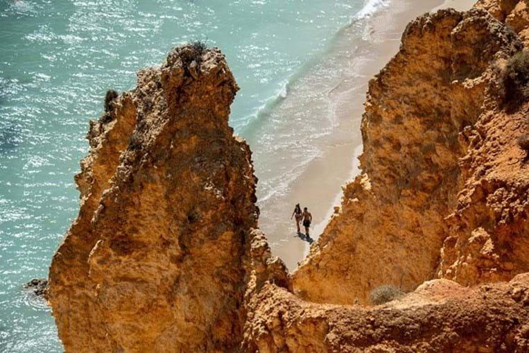 Praia de Lagos, no Algarve