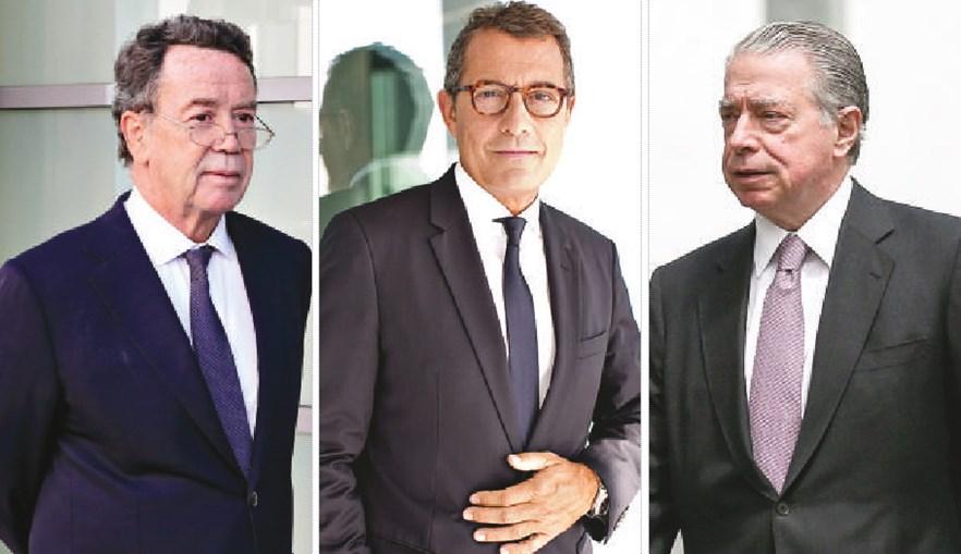 Manuel Pinho, António Mexia e Ricardo Salgado (da esquerda para a direita) são todos arguidos no processo que está a ser investigado pelo Ministério Público