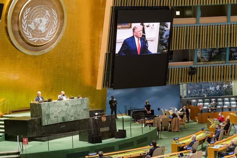 Trump lançou um duro ataque à China e à OMS no seu discurso perante a assembleia-geral da ONU