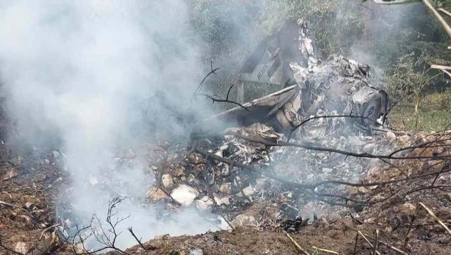 Avião militar caiu entre aldeias de Zlonika e Brasina, na Sérvia