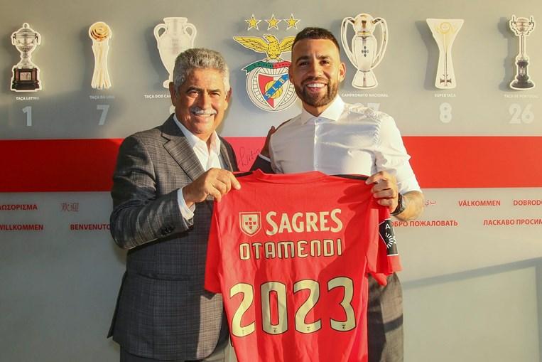 Otamendi apresentado como reforço do Benfica