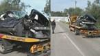 Comboio abalroa carro e provoca um ferido em Coimbra. Linha do Norte está cortada