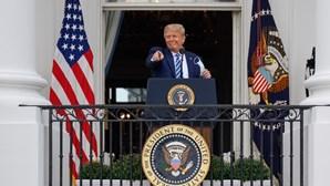 """Donald Trump de regresso afirma estar """"ótimo"""""""