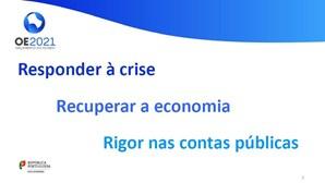 """""""Responder à crise e recuperar a economia"""": Veja o documento de apresentação do Orçamento do Estado proposto pelo Governo para 2021"""
