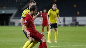 Portugal vence suecos por três bolas a zero com Jota a 'vestir a pele' de Cristiano Ronaldo