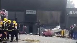 Incêndio seguido de explosão destrói parte de fábrica em Guimarães