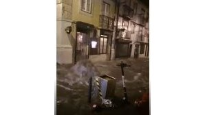 Inundações em Lisboa devido à Depressão Bárbara