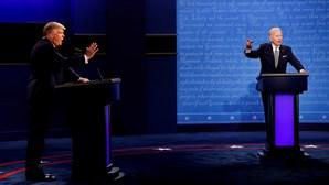 Microfones cortados durante último debate entre Trump e Biden