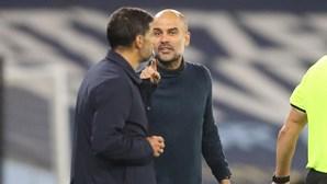 """Conceição em confronto com Guardiola: """"Não disse palavras bonitas do nosso país e tive de lhe responder"""""""