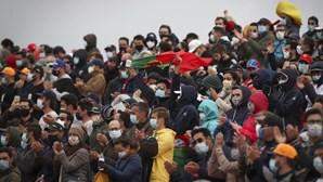 Bancadas cheias no Autódromo do Algarve durante GP de Fórmula 1. Veja as imagens