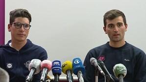 """""""Estamos muito gratos"""": Ciclistas João Almeida e Rúben Guerreiro agradecem apoio à chegada a Portugal após Giro em Itália"""