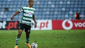 João Mário entra no onze do Sporting contra o Tondela