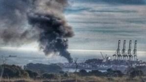 Incêndio no Porto de Sines dado como controlado