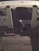 Suspeito foi filmado pela videovigilância de uma das moradias onde ocorreram furtos