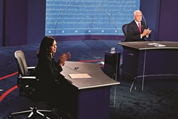 Mosca foi a estrela do debate entre Kamala Harris  e Mike Pence