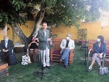 Manuel Heitor, no encontro de sábado, em Óbidos