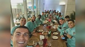 Ronaldo e companheiros da Seleção Nacional