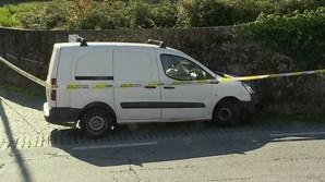 Carro do suspeito em fuga em Braga