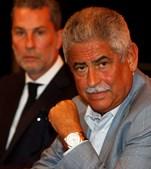 Luís Filipe Vieira com Nuno Gaioso, dono da empresa que controla o fundo que adquiriu as dívidas do grupo Promovalor