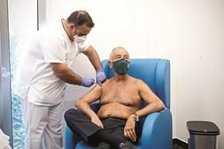 Marcelo foi vacinado na Unidade de Saúde Familiar Descobertas, em Lisboa