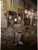 Inundações devido à depressão Bárbara