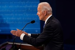 Joe Biden no debate eleitoral
