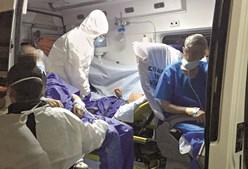 Os quatro doentes de Cascais ainda dentro da ambulância
