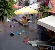 Vídeos mostram destruição