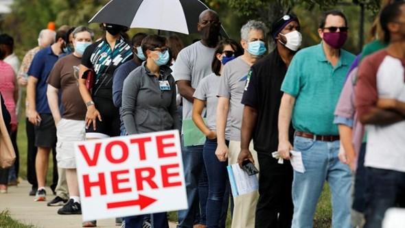 Corrida às urnas nos EUA para o voto antecipado