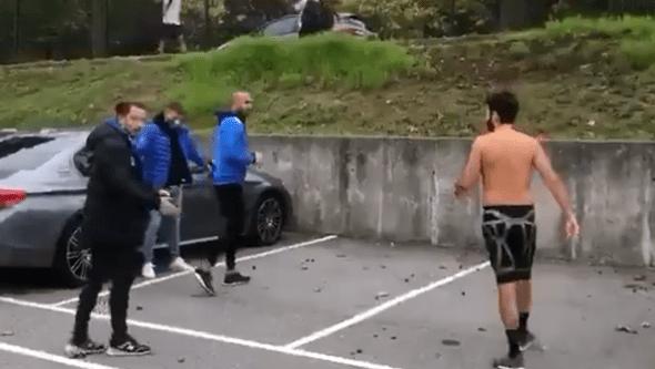 Fernando Madureira filmado em combates de rua