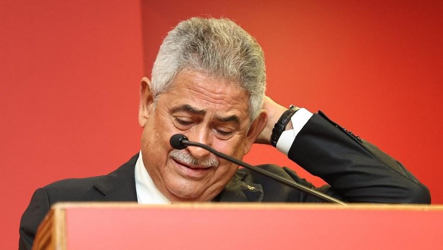Luís Filipe Vieira em lágrimas