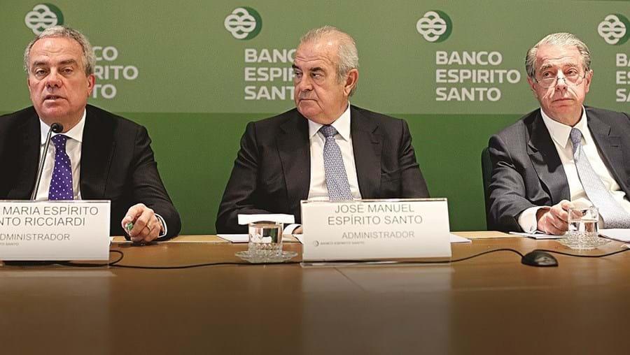 José Maria Ricciardi, José Manuel Espírito Santo e Ricardo Salgado
