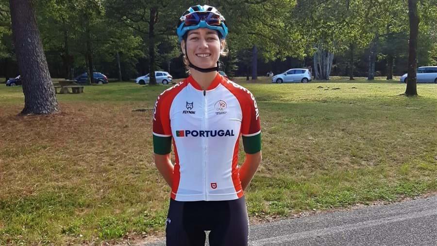 A ciclista Daniela Campos