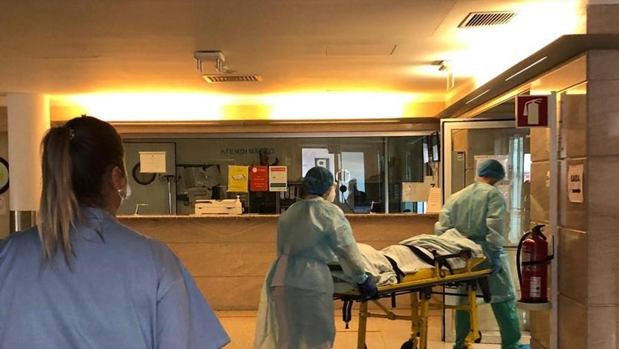 Doentes com Covid-19 no Hospital das Forças Armadas, em Lisboa