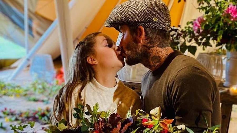 Imagem de David Beckham a beijar filha na boca está a indignar os internautas