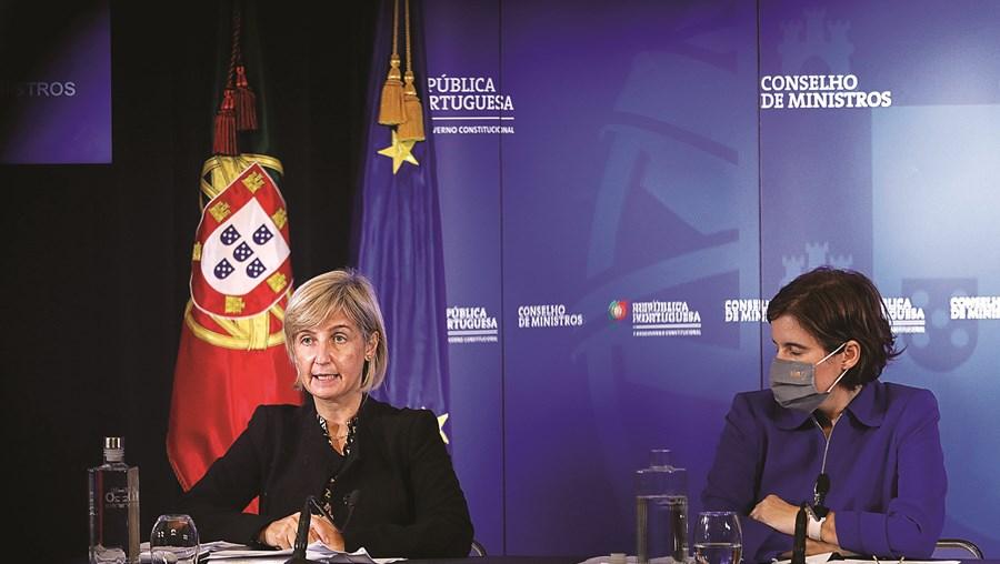 Marta Temido, ministra da Saúde, e Mariana Vieira da Silva, ministra da Presidência, anunciaram as novas medidas