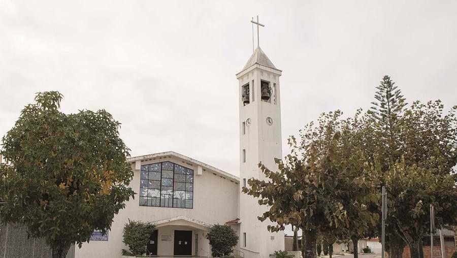 Igreja de Corticeiro de Cima, em Cantanhede, foi um dos alvos da dupla de ladrões, durante a onda de assaltos