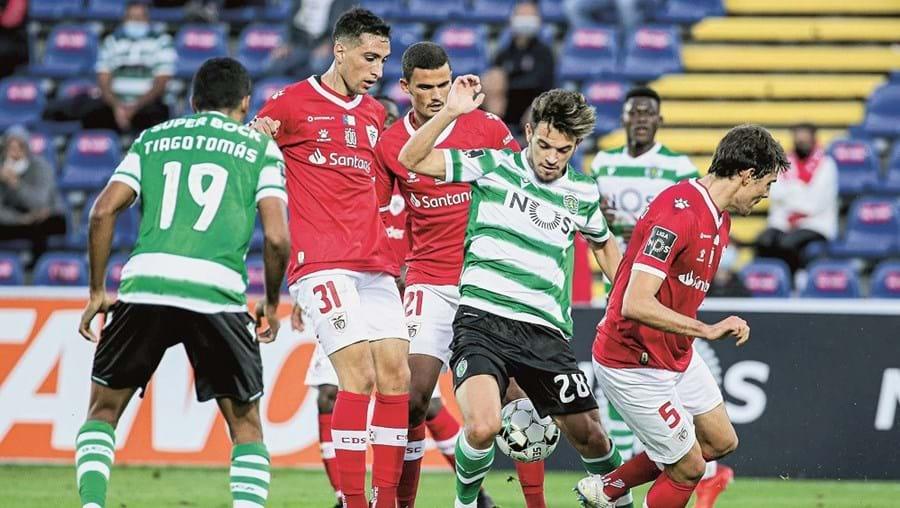 Pedro Gonçalves brilhou ao apontar os dois golos do Sporting